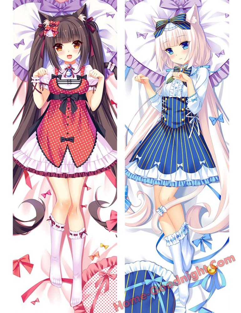 NEKOPARA Anime Dakimakura Japanese Love Body Pillow Cover