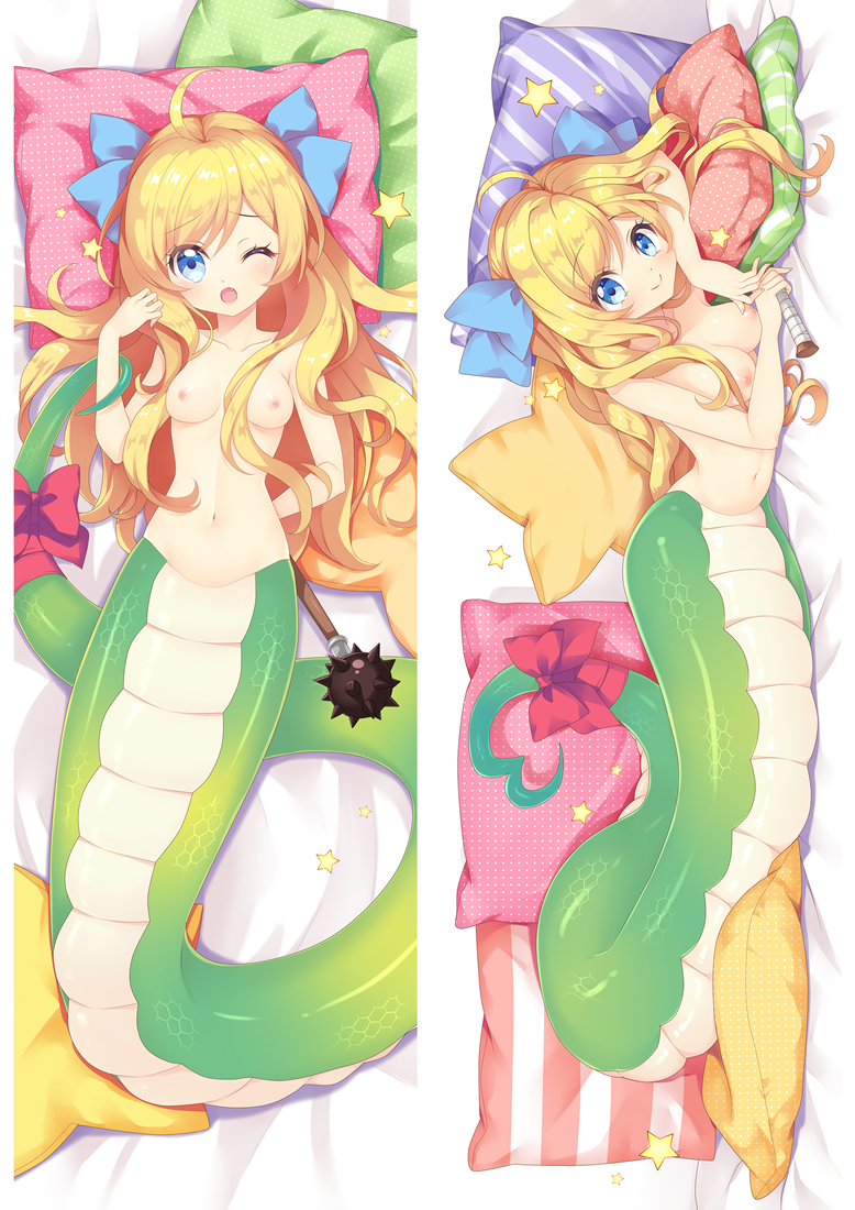 Lamia Hugging body anime cuddle pillowcovers