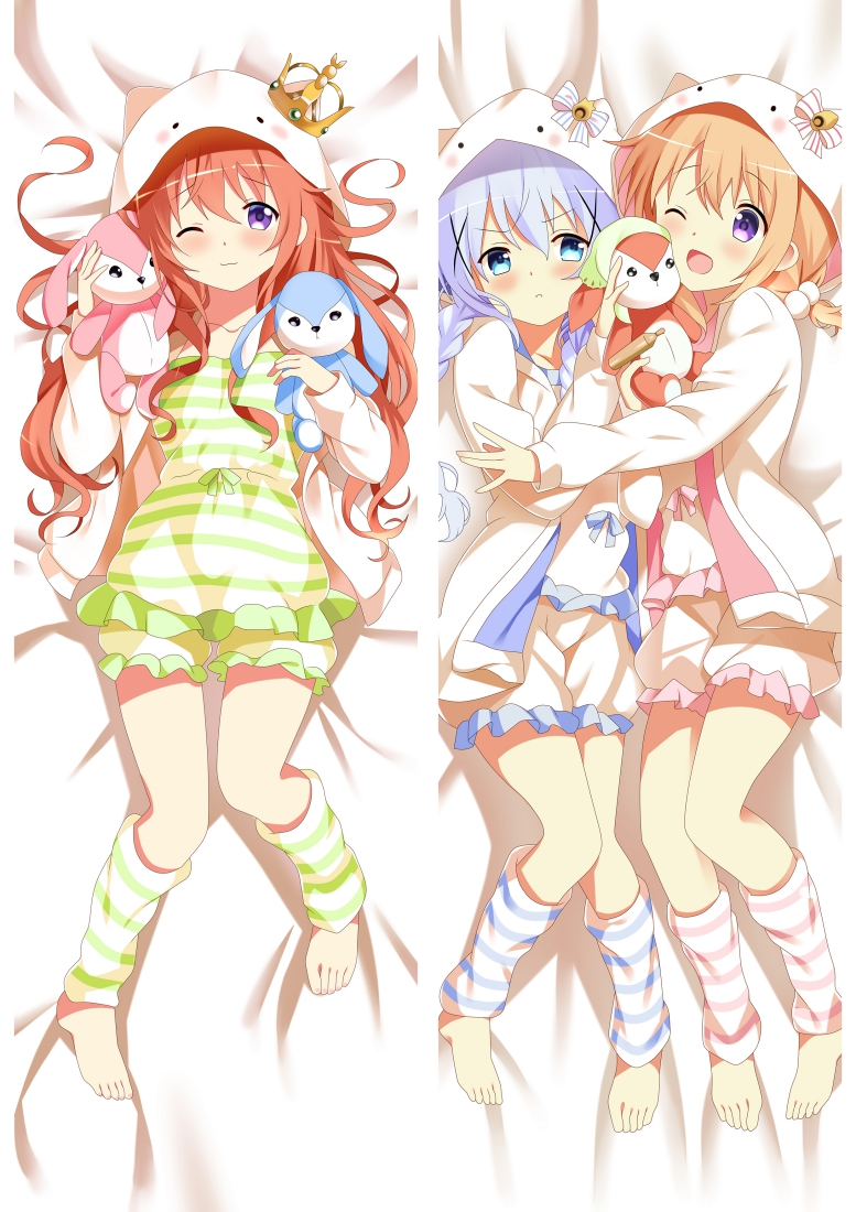 Hoto Cocoa Chino - Is the Order a Rabbit Dakimakura 3d pillow anime pillowcase