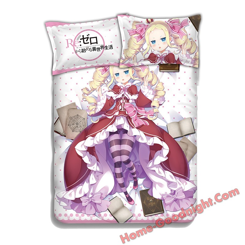 Beatrice - Re Zero Japanese Anime Bed Blanket Duvet Cover with Pillow Covers