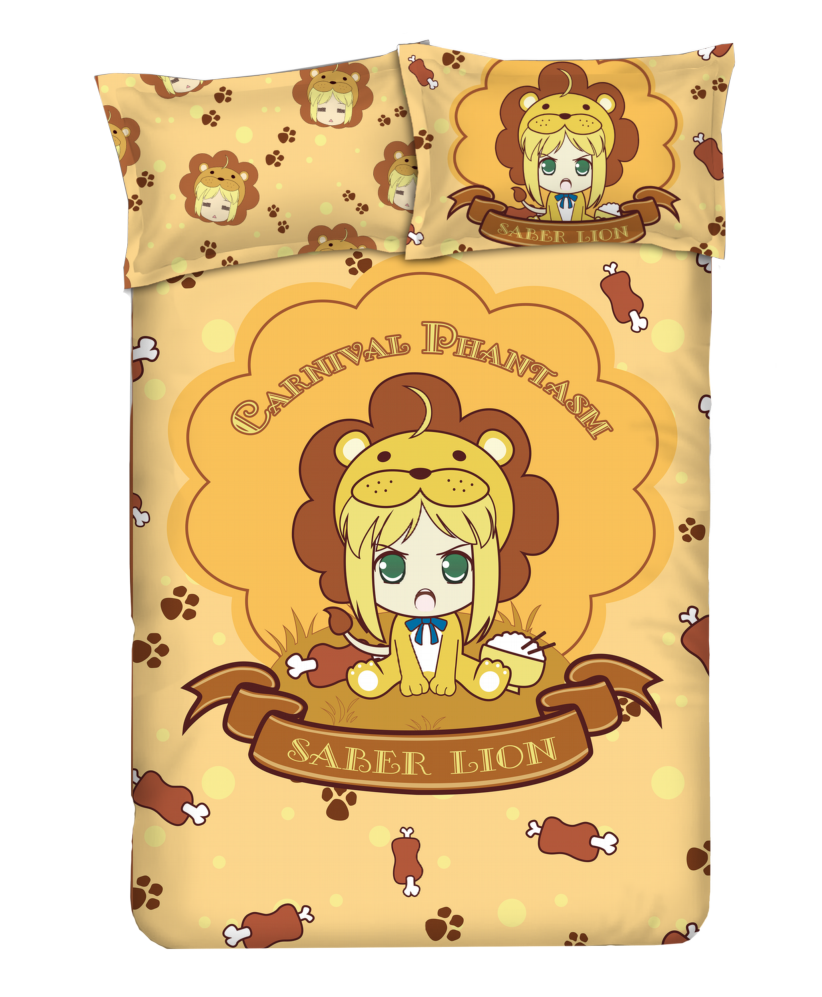 Saber - Carnival Phantasm Anime 4 Pieces Bedding Sets,Bed Sheet Duvet Cover with Pillow Covers