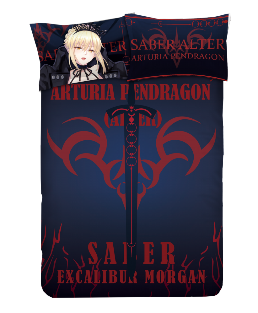 Saber-fate Anime Bedding Sets,Bed Blanket & Duvet Cover,Bed Sheet with Pillow Covers