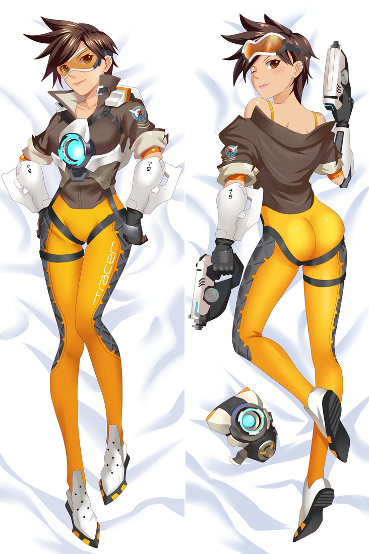 Tracer - Overwatch body anime cuddle pillow covers