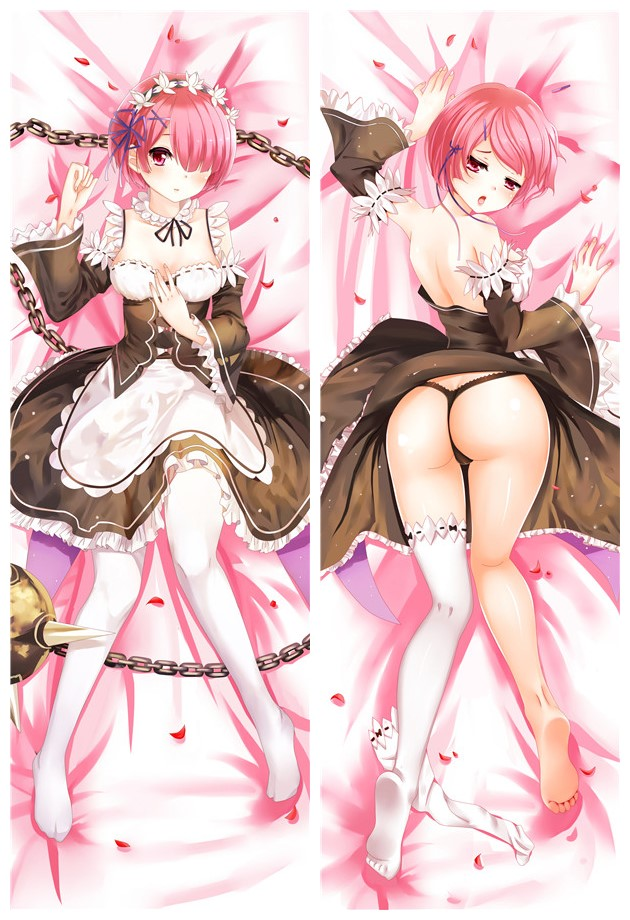 Ram - Re Zero Body Pillow Case japanese love pillows for sale