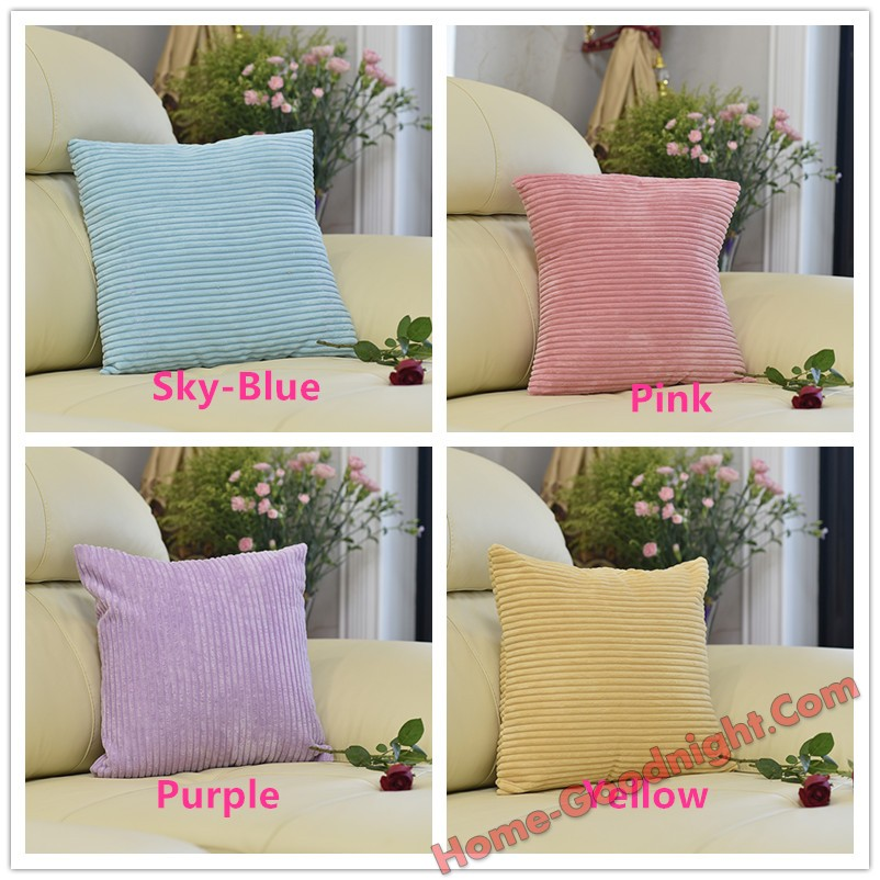 Conditional Free Gifts - Corn Striped Velvet Square Throw Pillow Covers,45*45cm(18x18 inch)