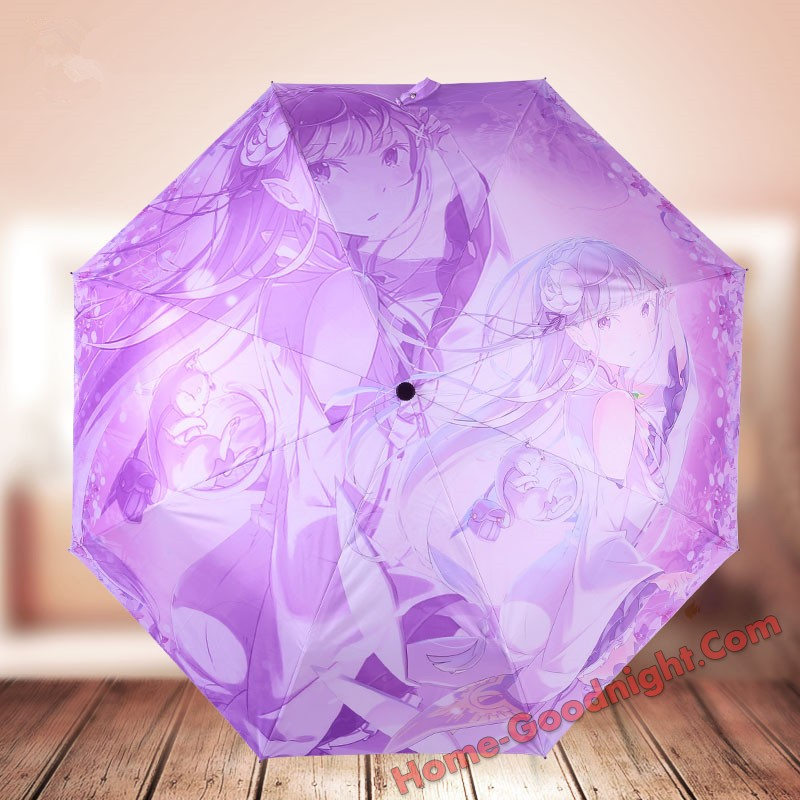 Emilia Re:Zero Foldable Anime Umbrella