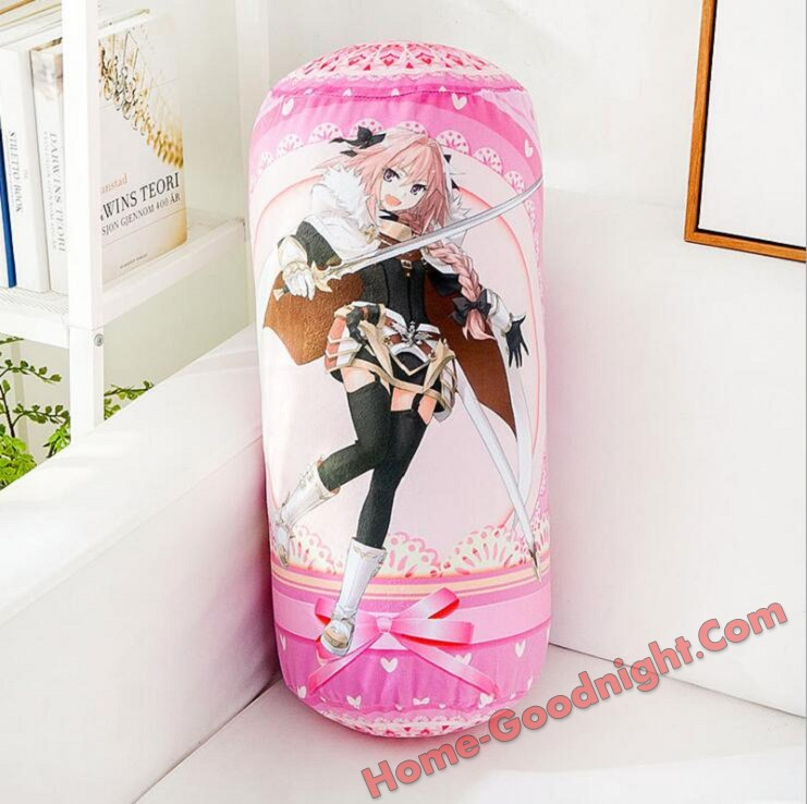 Astolfo - Fate Anime Comfort Neck and Support Mini Round Roll Bolster Dakimakura Pillow
