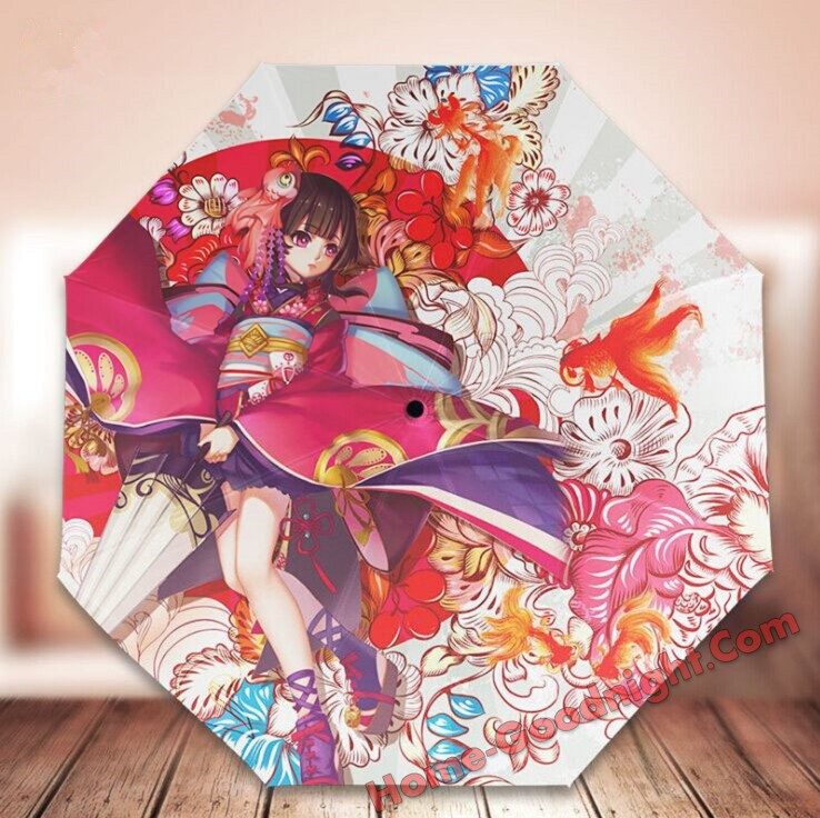 Foldable Anime Umbrella cheap sale