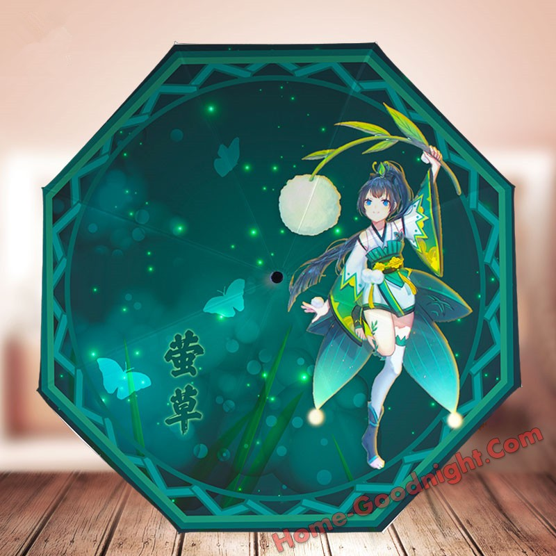 Waterproof Anti-UV Foldable Anime Umbrella