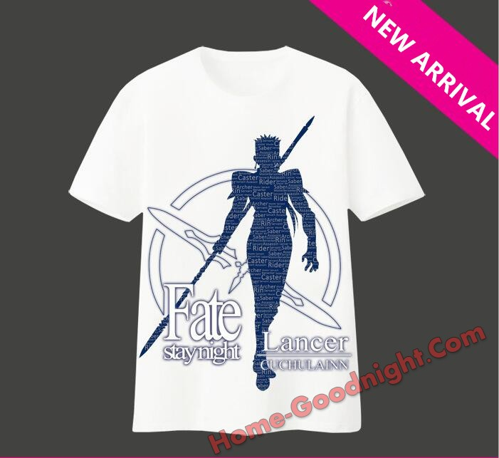 New Mens Fate staynight Lancer Anime Fashion T-shirts
