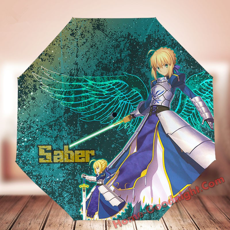 Saber Fate Waterproof Anti-UV Never Fade Foldable Anime Umbrella