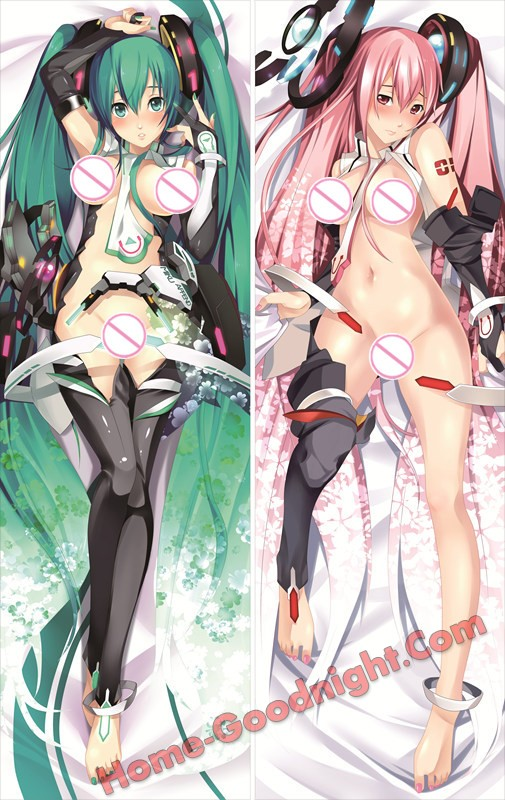 Vocaloid - Hatsune Miku + Luka Megurine Dakimakura 3d pillow japanese anime pillow case