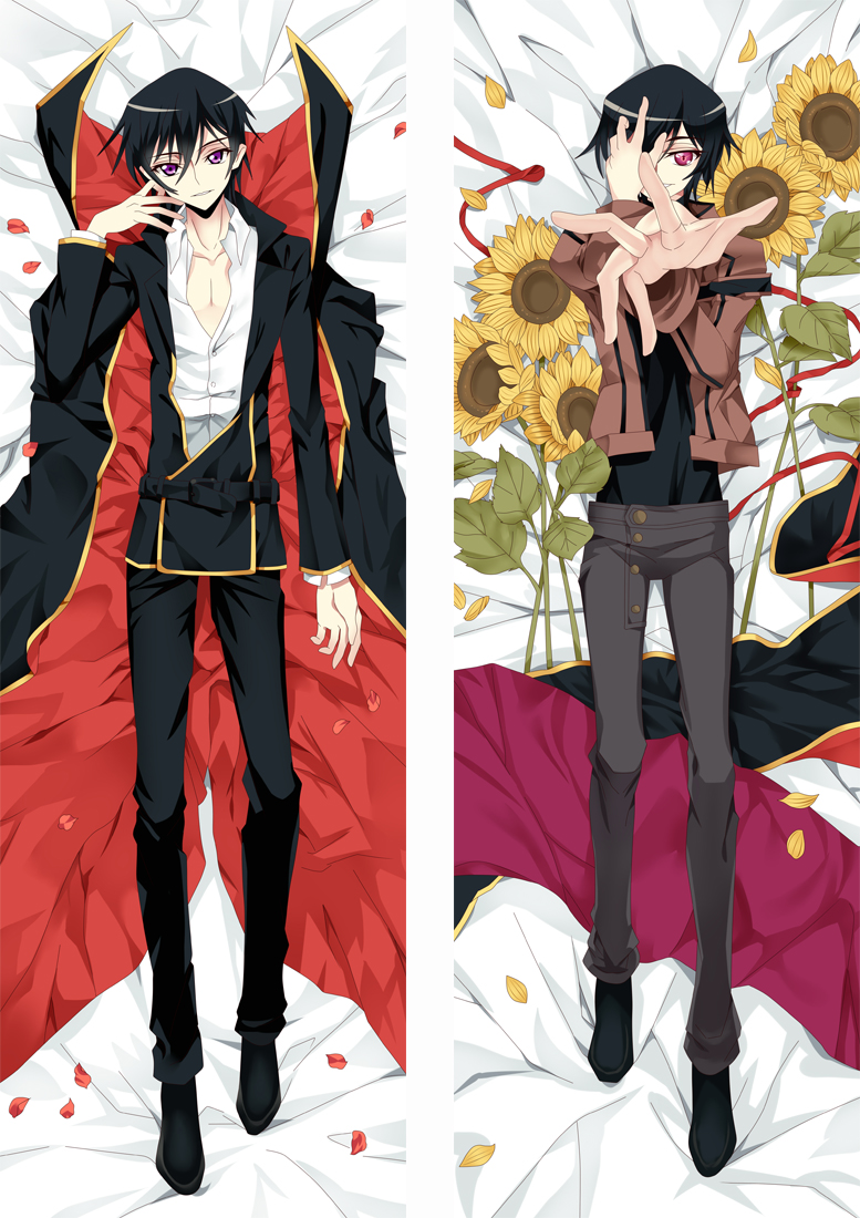 Code Geass Lelouch Lamperouge Anime Dakimakura Japanese Love Body Pillow Cover