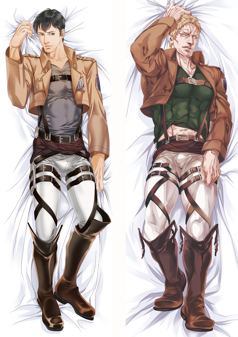 Attack on Titan Anime Dakimakura Japanese Love Body Pillow Cover