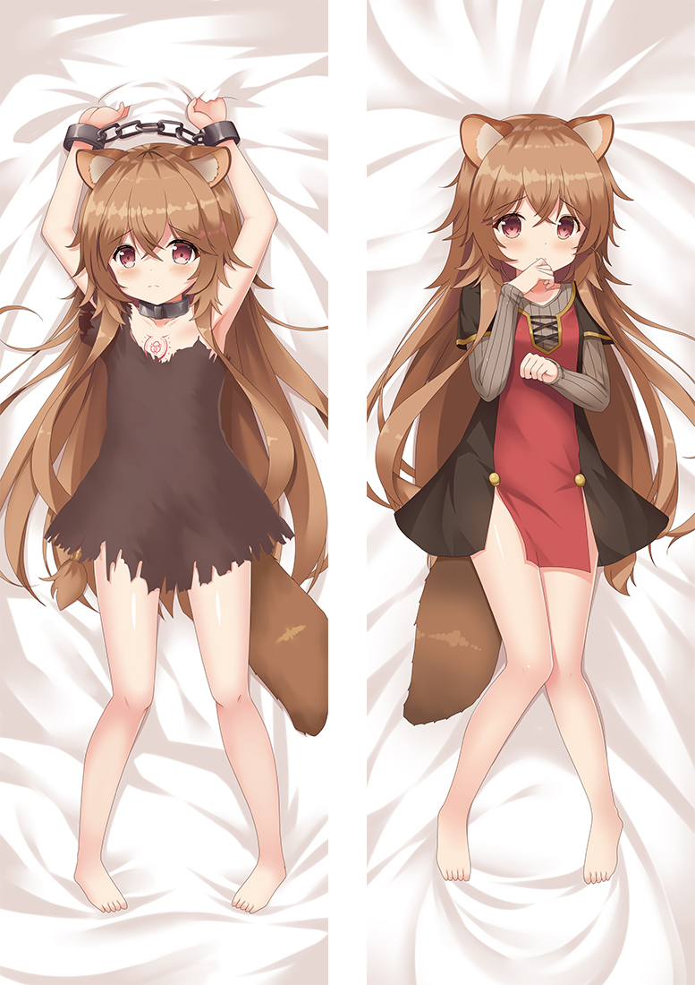 The Rising of the Shield Hero Raphtalia Anime Dakimakura Japanese Hugging Body PillowCases