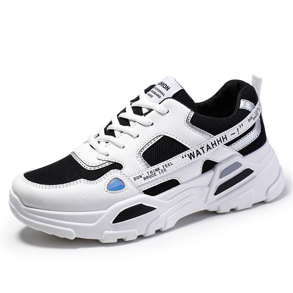 Men Outdoor Flats Sneakers, Male Solid Casual Sports Shoes Running Hiking Shoes Non-slip