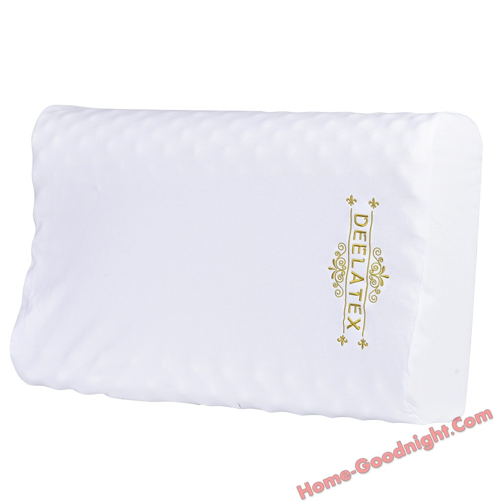 Thailand Natural Talalay Latex Pillow,Honeycomb Ventilated Core,Dust Mite Resistant and Hypoallergenic,White